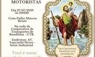 3ª Missa Campal em homenagem aos motoristas será realizada em Vilhena