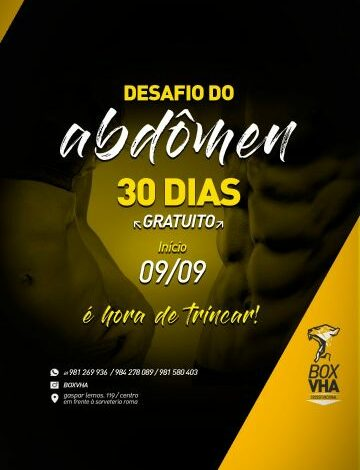 """Atividade física: Box VHA realiza """"Desafio 30 dias - Abdômen"""""""