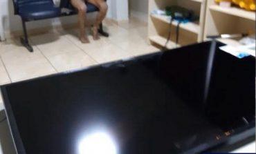 Apenado é preso pela PRF com televisão furtada