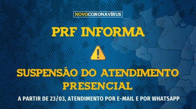 PRF/RO adota atendimento virtual por e-mail para o público externo