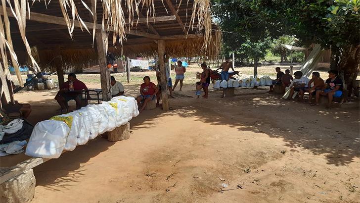 Coordenação Regional da Funai entrega 430 cestas de alimentos a indígenas