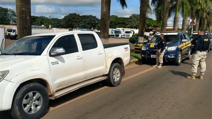 Caminhonete furtada em Porto Velho é recuperada em Vilhena