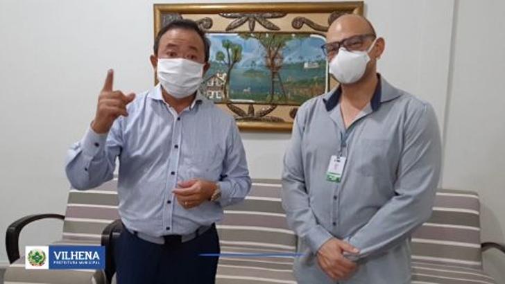 Prefeito e direção do Hospital Regional anunciam cura do primeiro caso confirmado covid-19
