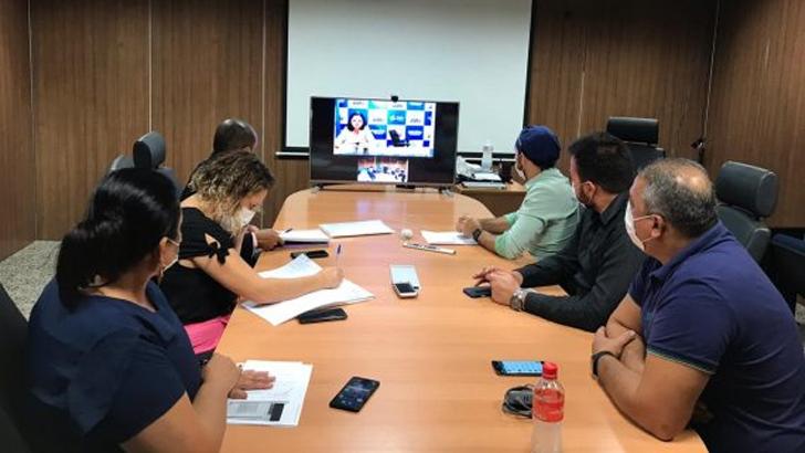 Sesau realiza videoconferência com secretarias de saúde dos 52 municípios para tratar sobre disponibilização de leitos e insumos
