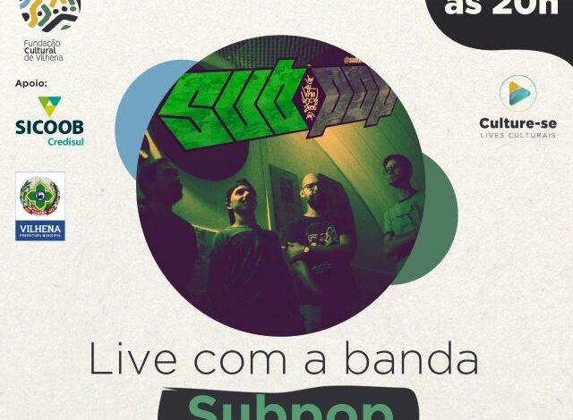 Subpop se apresenta em live artística com músicas autorais no projeto Culture-se da Fundação
