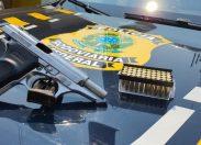 PRF detém motorista por porte ilegal de arma de fogo