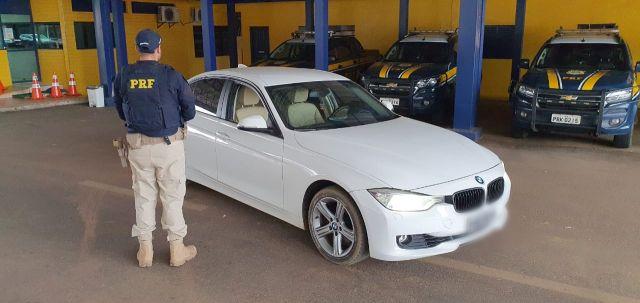 BMW roubada em São Paulo é recuperada pela PRF em Vilhena