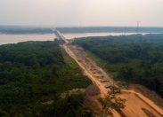 DNIT divulga novas imagens da fase final de construção da ponte do rio Madeira