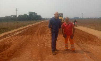 Deputado Ezequiel Neiva agradece governador Marcos Rocha pela recuperação da rodovia de Pimenteiras