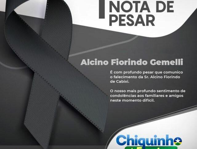 Deputado Chiquinho da Emater emite nota de pesar pelo falecimento de pioneiro cabixiense