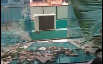 Em Cabixi, temporal quebra vidros e causa destruição na prefeitura