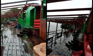 VÍDEO: telhado de Pousada é arrancado durante temporal em Cabixi