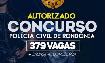 Governador de Rondônia autoriza concurso com mais de 300 vagas na Segurança Pública