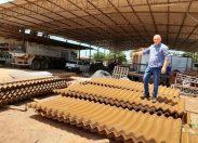 Bueiros armcos comprados com emenda parlamentar do deputado Ezequiel Neiva são instalados em Cacoal