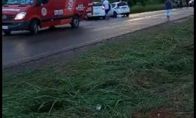 Acidente entre carros deixa uma vítima fatal na proximidades de Cerejeiras