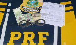 Em Vilhena/RO, PRF prende foragido da justiça utilizando documento falso