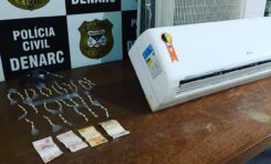 Polícia Civil fecha boca de fumo e prende traficante com mais de 100 porções de cocaína e arma de fogo