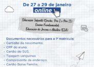Rede municipal de Educação altera data de pré-matrícula escolar online