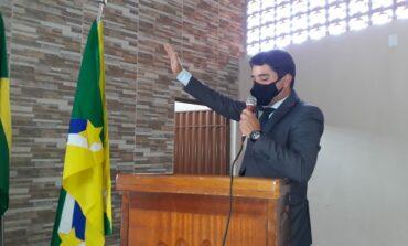 Prefeito, Vice e vereadores de Corumbiara tomaram posse nesta sexta-feira, 1º