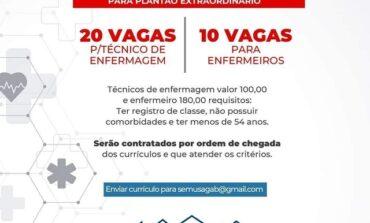 Coren-RO considera injustos valores oferecidos a profissionais de Enfermagem em chamamento emergencial de Ji-Paraná