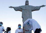 Rio dá início à vacinação contra a covid-19 aos pés do Cristo