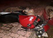 Em Colorado, motociclista desobedece a ordem de parada, cai com moto e é hospitalizado com várias escoriações