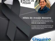 Deputado Chiquinho da Emater emite nota de pesar pelo falecimento de moradora de Cabixi