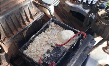 Pimenteiras D'Oeste: Polícia Militar apreende 3000 gramas de entorpecentes escondidos em veículo na área rural