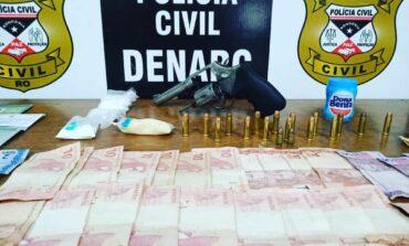 Porto Velho: suspeito é preso pela segunda após flagrante de tráfico e posse de arma de fogo