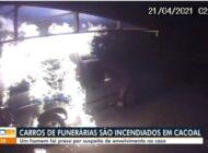Carros de funerária são incendiados em Cacoal