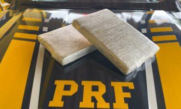Em Ariquemes, PRF e PMRO apreendem 6,5 Kg de cocaína