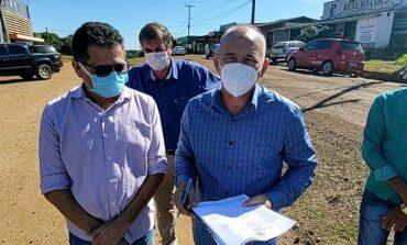 Deputado Ezequiel Neiva lança obras de asfaltamento no município de Colorado do Oeste