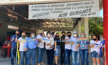 Inaugurado: feirantes de Cabixi ganham novo barracão construído com recurso do Senador Acir Gurgacz