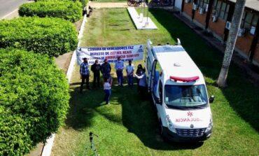 Câmara de vereadores entrega ambulância semi-UTI para o município de Cerejeiras