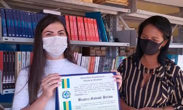 Deputado Chiquinho homenageia aluna que se destacou no Enem 2019