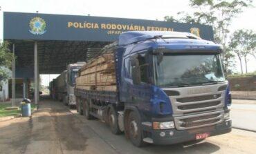 RO: quase 500 m³ de madeira são apreendidos no maior flagrante feito em operação da PRF