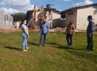 Deputado Ezequiel Neiva inspeciona obras na Escola São Roque, em Corumbiara