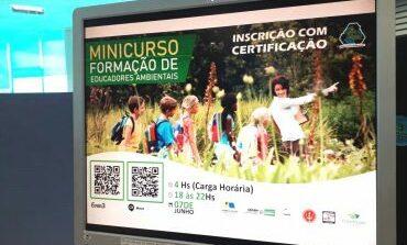 """""""Minicurso Formação de Educadores Ambientais"""" acontece na segunda-feira,7; ação faz parte da Semana do Meio Ambiente"""
