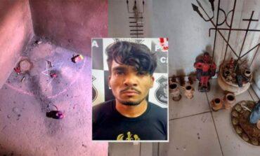 Polícia divulga fotos de materiais satanistas e macabros que foram encontrados na casa do Serial Killer
