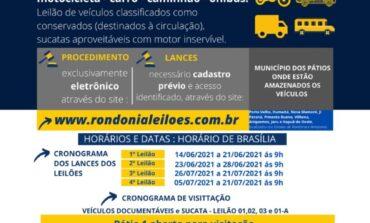 Em Porto Velho/RO, PRF abre visitação para leilão de veículos