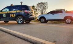 PRF recupera caminhonete roubada menos de 7 horas após o crime